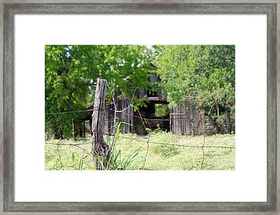 Beyond The Post Framed Print by Lisa Moore