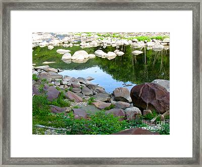 Beyond The Potholes Framed Print