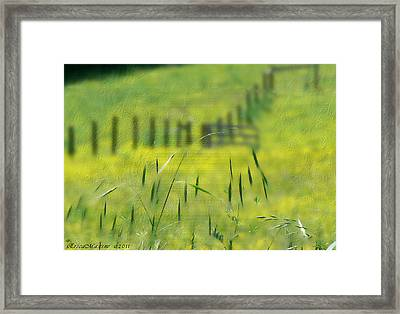 Beyond The Weeds Framed Print by EricaMaxine  Price