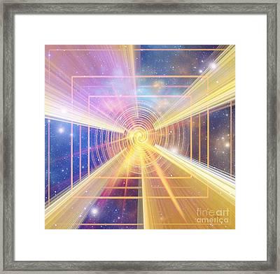 Beyond Time Framed Print by Fania Simon