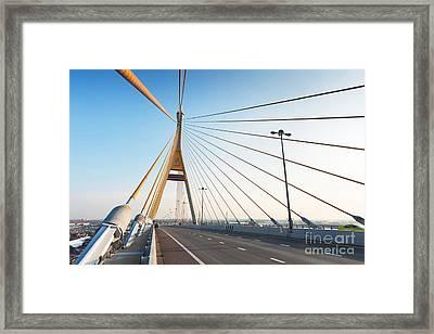 Bhumipol Bridge Framed Print by Atiketta Sangasaeng