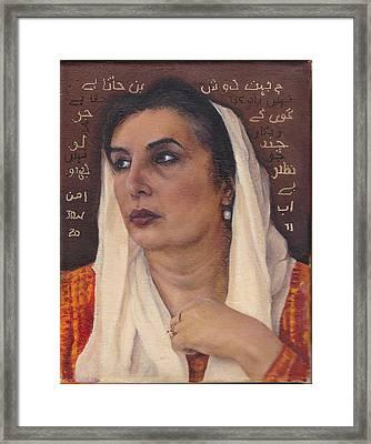 Bhutto Framed Print by Denise Warren