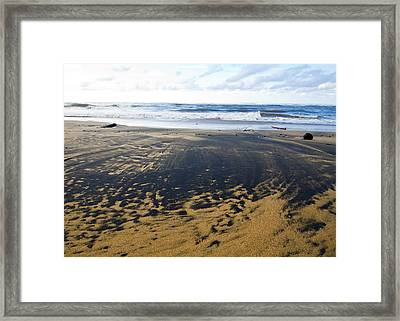 Bi Color Beach  Framed Print by Tim Fitzwater