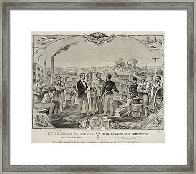 Bi-lingual Poster In English Framed Print by Everett