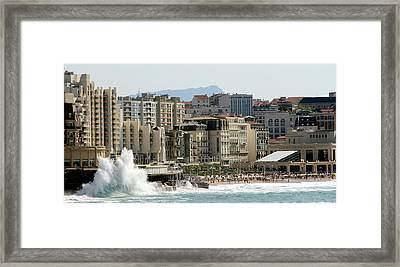 Biarritz Beach Framed Print