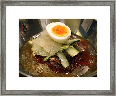 Bibim Naengmyeon - Korean Cold Noodle Soup Framed Print by Copyright (c) Jamie Frater