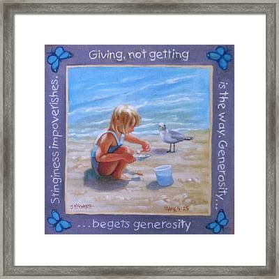 Bible Verse Art Framed Print