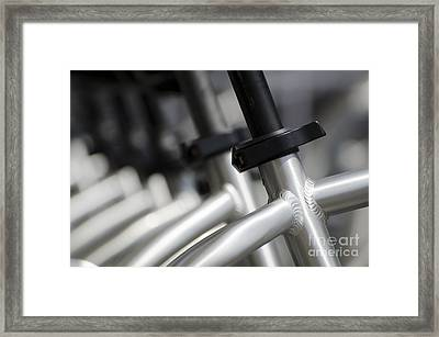 Bicycle Frame Framed Print