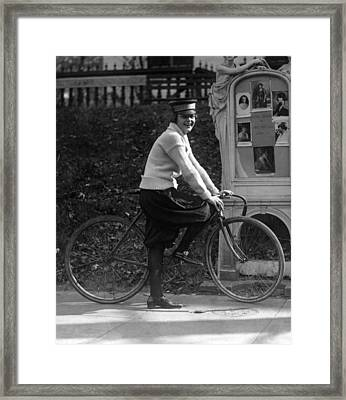 Bicycle. Julia Obear, Bike Messenger Framed Print by Everett