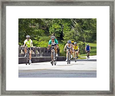 Bicycle Ride Across Georgia Framed Print by Susan Leggett