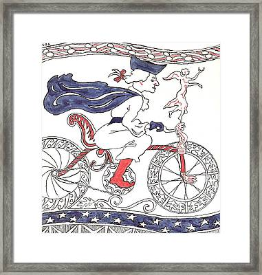 Bicycle Rider In France Framed Print