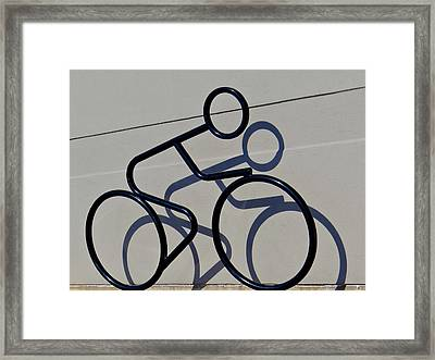 Bicycle Shadow Framed Print