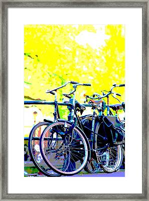 Bicycles Framed Print by Rogerio Mariani