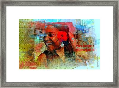Bienvenue - Welcome Framed Print by Fania Simon