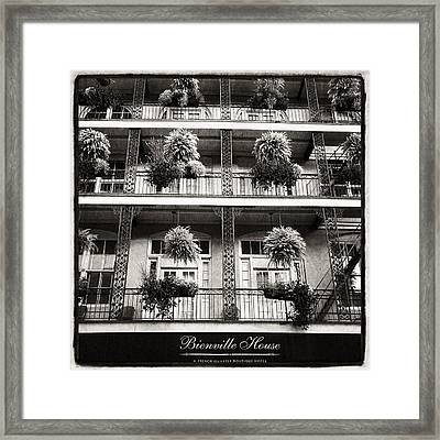 Bienville House In Black And White Framed Print by Tammy Wetzel