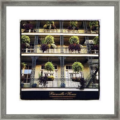 Bienville House Framed Print by Tammy Wetzel