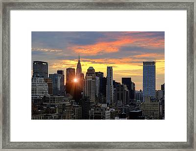 Big Apple Brilliance Framed Print by Janet Fikar