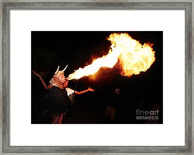Big Axe Of Fire Framed Print by Agusti Pardo Rossello