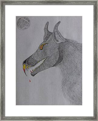 Framed Print featuring the drawing Big Bad Wolf by Gerald Strine