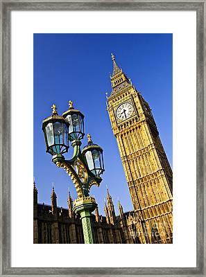 Big Ben And Palace Of Westminster Framed Print