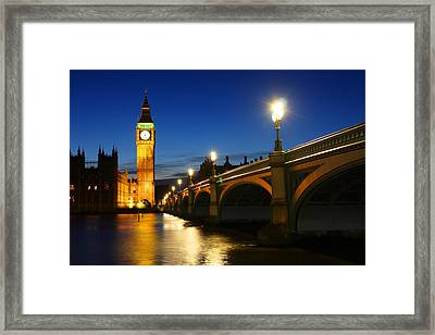 Big Ben And Westminster Bridge Framed Print by Dan Breckwoldt