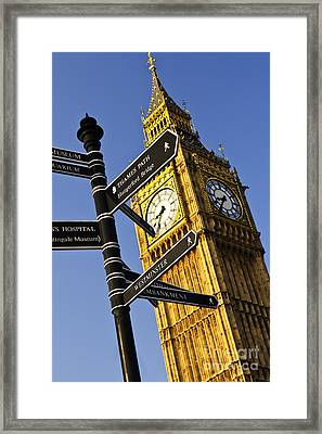 Big Ben Clock Tower Framed Print by Elena Elisseeva