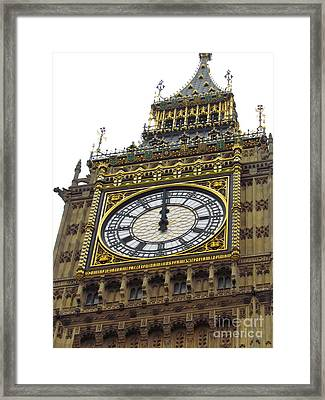 Framed Print featuring the photograph Big Ben High Noon by Beth Saffer