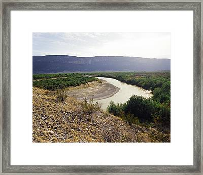 Big Bend Park Overlooking The Rio Grand River Framed Print