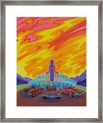 Big Block Cafe Framed Print