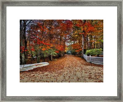 Big Boulder Boathouse Framed Print