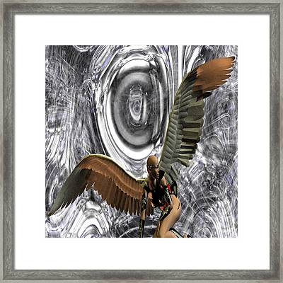 Big Brother Is Watching You Framed Print by Matthew Lacey