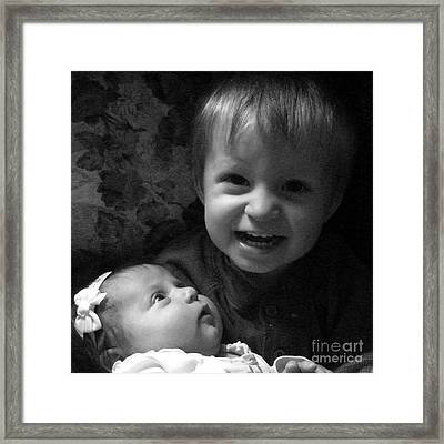 Big Brother Framed Print by RL Rucker