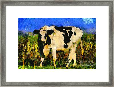 Big Bull 2 . 7d12437 Framed Print by Wingsdomain Art and Photography