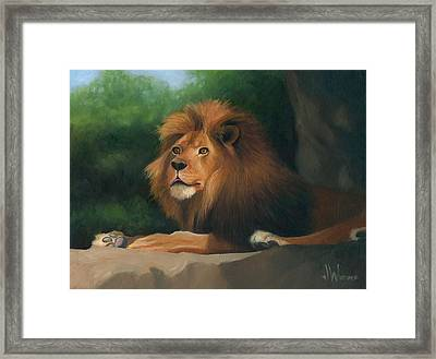 Framed Print featuring the painting Big Cat by Joe Winkler