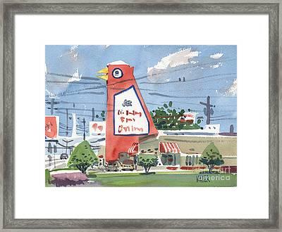 Big Chicken Framed Print by Donald Maier