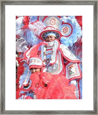 Big Chief And Queen Framed Print by Torey Polk