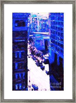 Big City Blues 2 Framed Print by Wingsdomain Art and Photography