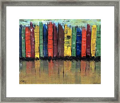 Framed Print featuring the painting Big City Color by Kathy Sheeran