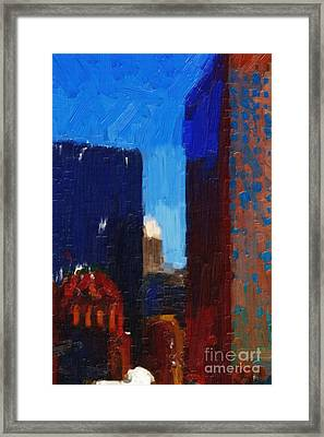 Big City Framed Print by Wingsdomain Art and Photography