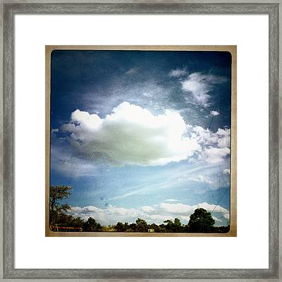 Framed Print featuring the photograph Big Cloud by Paul Cutright