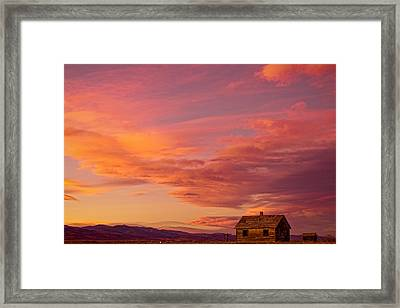 Big Colorful Colorado Sky And Little House On The Prairie Framed Print by James BO  Insogna