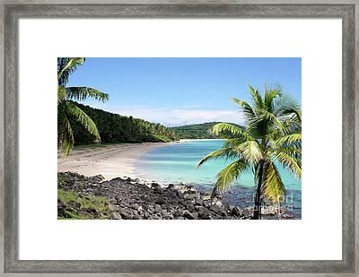 Framed Print featuring the photograph Big Corn Island Beach Nicaragua by John  Mitchell