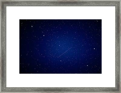 Framed Print featuring the photograph Big Dipper And Iridium by Matti Ollikainen