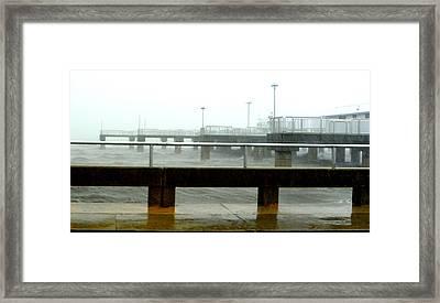 Big Dock Tropical Storm Framed Print by Sheri McLeroy