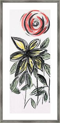 Framed Print featuring the painting Big Flower by Alethea McKee