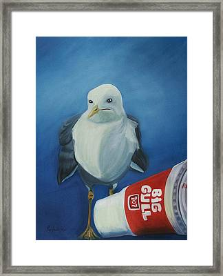 Big Gull Framed Print by Amy Reisland-Speer