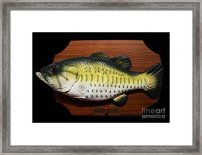 Big Mouth Billy Bass . 7d13533 Framed Print by Wingsdomain Art and Photography