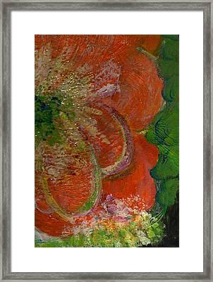 Big Orange Flower  Framed Print by Anne-Elizabeth Whiteway