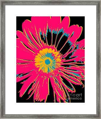 Big Pop Floral Framed Print by Ricki Mountain