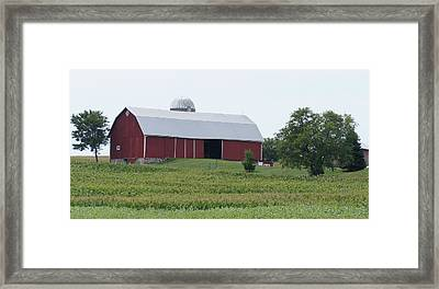 Big Red Barn Framed Print by Kristine Bogdanovich